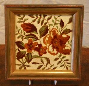 Floral printed tile