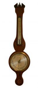 Georgian mahogany two piece wheel barometer