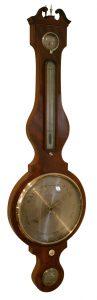 Georgian mahogany four piece wheel barometer