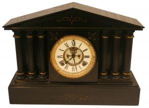 Victorian slate mantle clock