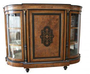 A Victorian walnut credenza
