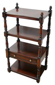 A William IV mahogany 4 tier what-not or dumb waiter