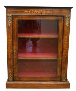 A Victorian Walnut veneered display cabinet