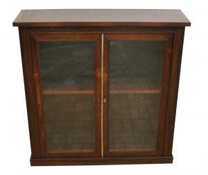 A Regency Rosewood two door pier cabinet