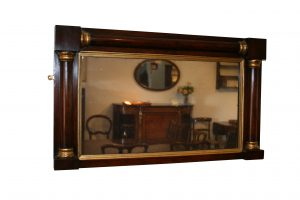A Rosewood overmantle mirror