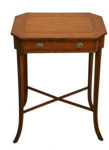 A Victorian Satinwood occasional table