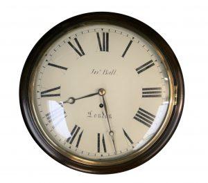 A Regency mahogany cased eight day Fusee wall clock