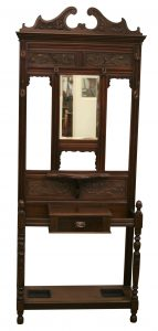 A Mahogany Hall stand with central mirror