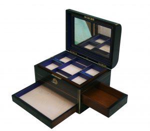A Victorian coromandel wood jewellery box