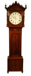 A Victorian Mahogany Scottish long case clock