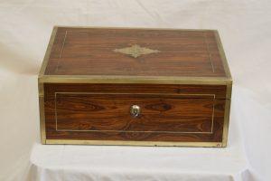 A Regency mahogany Jewellery box