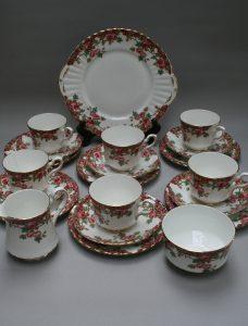 A six piece Royal Stafford bone china tea set