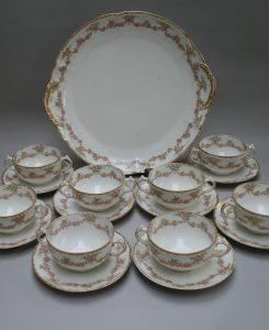 An eight piece Limoges tea set